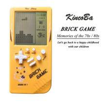 KincoBa Brick Handheld Game Machine Retro Game with 23 Classic Brick Games 3.5 inch Screen Portable Game Controller Good Toy Gifts for Kids (Yellow)