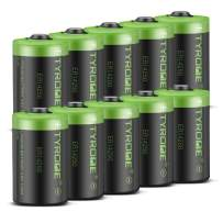 Tyrone ER14250 Battery [ 1/2 AA Size ][ 10 Pack ][ LS 14250 3.6V 1200 mAh Lithium Non Rechargeable ], Batteries Compatible for Dog Watch Fence Collars and Some of Baby Movement Monitor/Alarm Systems