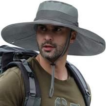 Super Wide Brim Sun Fishing Hat Safari UPF50+ Bucket Boonie Cap for Gardening Hiking Camping