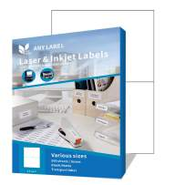 Anylabel Half Sheet Shipping Address Labels for Laser/Ink Jet Printer Permanent Adhesive (500 Sheets, 1000 Labels)