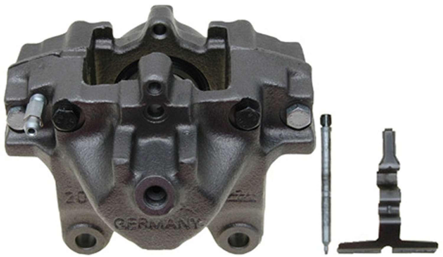 ACDelco 18FR12247 Professional Rear Passenger Side Disc Brake Caliper Assembly without Pads (Friction Ready Non-Coated), Remanufactured