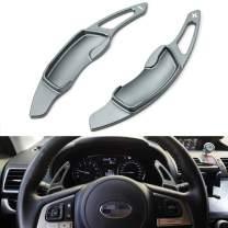 iJDMTOY Aluminum Steering Wheel Paddle Shifter Extensions Compatible With Subaru BRZ Impreza WRX Legacy XV Crosstrek (Gun Metal Matte Finish)