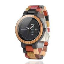 Engraved Wooden Watches Customized Personalized Wood Watches for Boyfriend My Man Fiancé Husband Birthday Anniversary