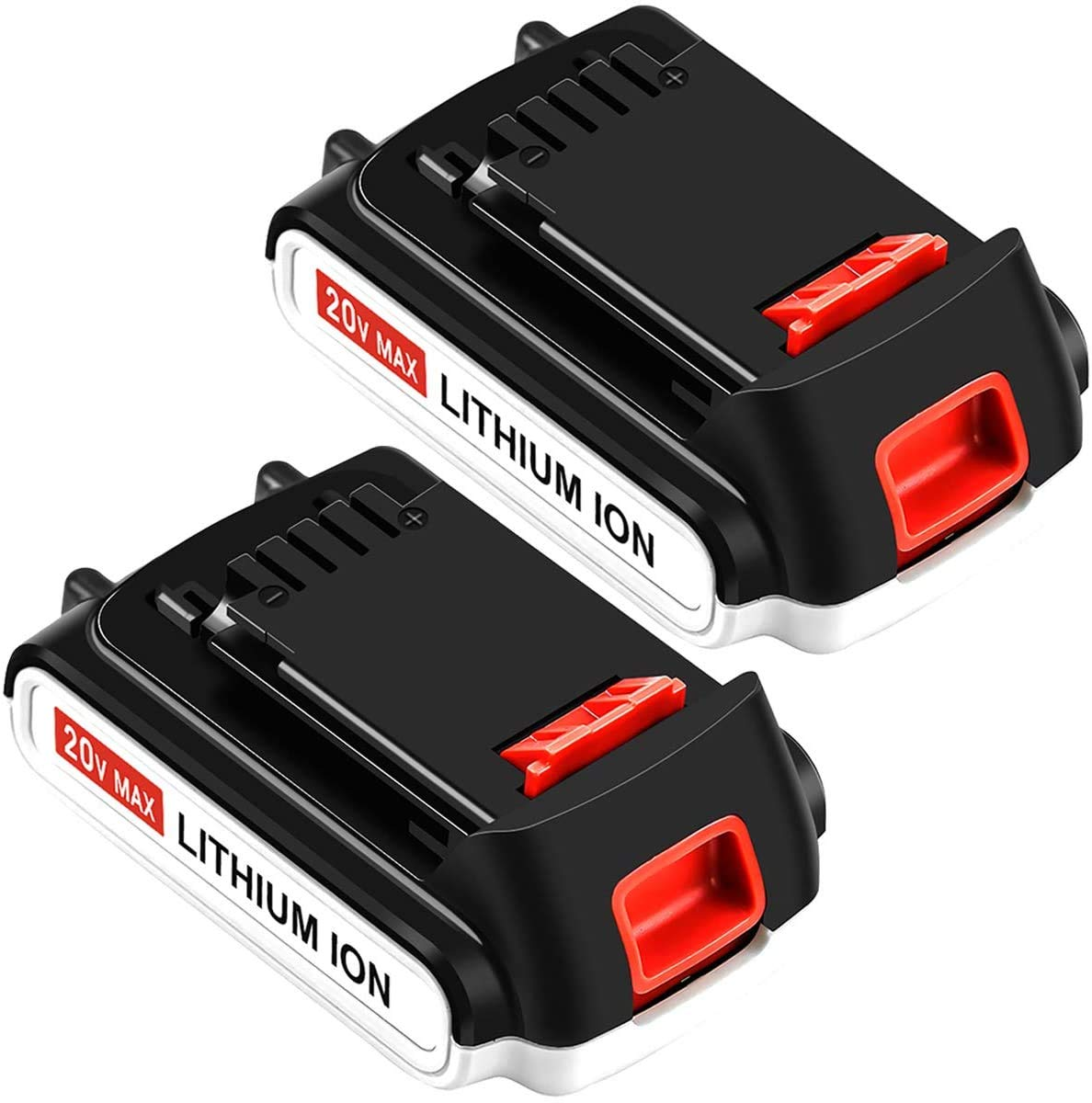 2 Pack LBXR20 Replacement for Black and Decker 20V Lithium Battery Max LB20 LBX20 LST220 LBXR2020-OPE LBXR20B-2 LB2X4020 Cordless Tool Batteries