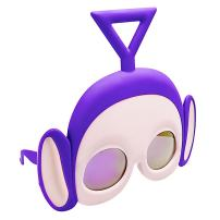 Costume Sunglasses Teletubbies Tinky Purple Sun-Staches Party Favors UV400