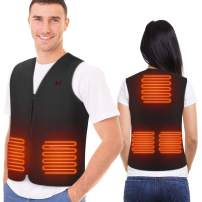 YHG Heated Vest, Washable Heated Jacket with USB Plug and 3 Gear Position, Heating Body Warmer for Camping, Outdoor Skiing, Hunting, Hiking in Winter(No Battery)