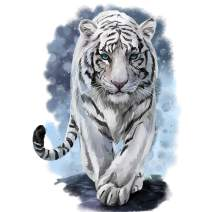 DIY 5D Diamond Painting Full Drill Square Diamond Art by Numbers Kit Diamonds Embroidery for Adult Wall Decor White Tiger