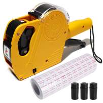 MX-5500 8 Digits Pricemaker Price tag Gun, Label Maker Pricing Gun Kit Numerical Tag Gun for Office, Retail Shop, Grocery Store, Include 5000 Sticker Labels & 2 Extra Ink Refill.(Yellow)