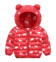 Unisex Kids Lightweight Down Cotton Cute Winter Coats Windproof Warm Jacket