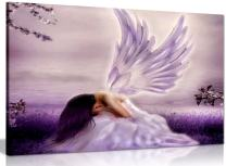 Angel Fantasy Weeping Canvas Wall Art Picture Print (36x24in)