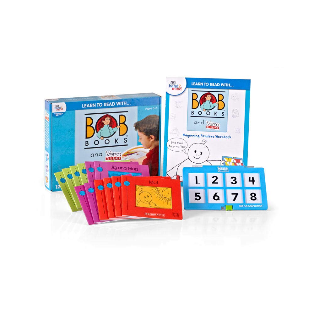 hand2mind Learn To Read With BOB Books & VersaTiles Beginning Readers Set, Early Reader Books For Kids Ages 4-6, 12 BOB Books, 1 Workbook & Answer Case, Homeschool Kindergarten Supplies