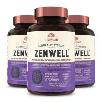 ZenWell - Organic Ashwagandha with KSM-66 | Clinically Studied Stress Reduction and Neural Protection | 180 Capsules - 90 Day Supply