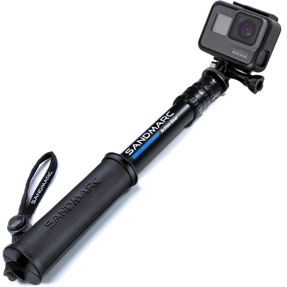 """SANDMARC Pole - Compact Edition: 10-25"""" Waterproof Pole (Selfie Stick) for GoPro Hero 8, Max, 7, 6, Fusion, Hero 5, 4, Session, 3+, 3, 2, HD & Osmo Action"""