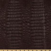 Plastex Fabrics Faux Leather Gator Fabric by The Yard, Brown