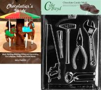 Cybrtrayd Bk-D066 Tools Assortment 1 EA Dads and Moms Chocolate Candy Mold with Chocolatier's Guide Instructions Book Manual