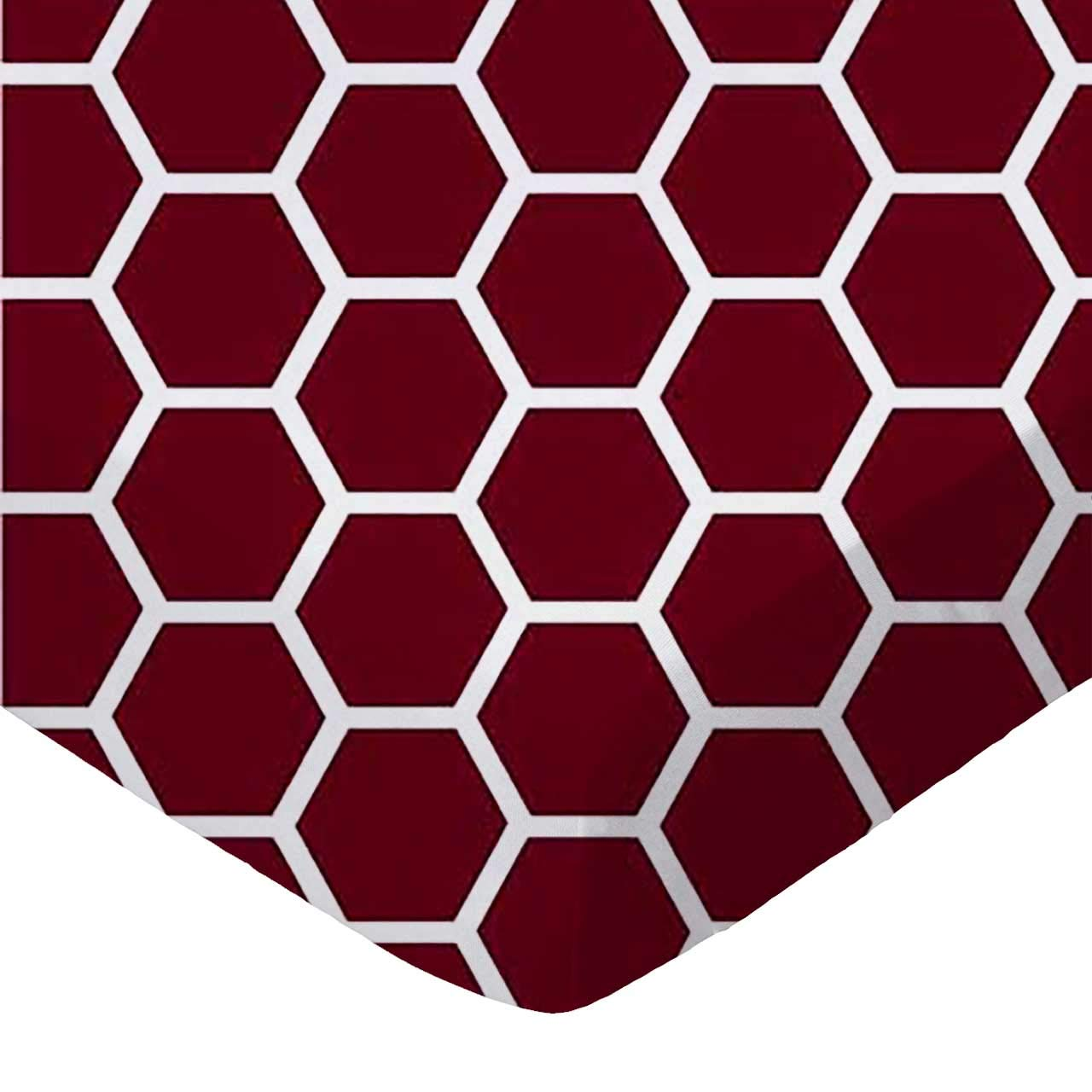 SheetWorld Fitted Sheet (Fits BabyBjorn Travel Crib Light) - Burgundy Honeycomb - Made In USA
