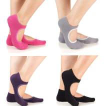 Yoga Socks Non Slip Skid Barre Pilates Grips Fitness Dance for Women