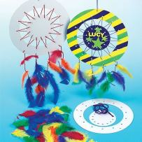 Baker Ross Dream Catcher Kit, Dreamcatchers for Kids to Make, Personalise and Display for Arts and Crafts Activities (Pack of 6), 23cm, Assorted 6 Pack