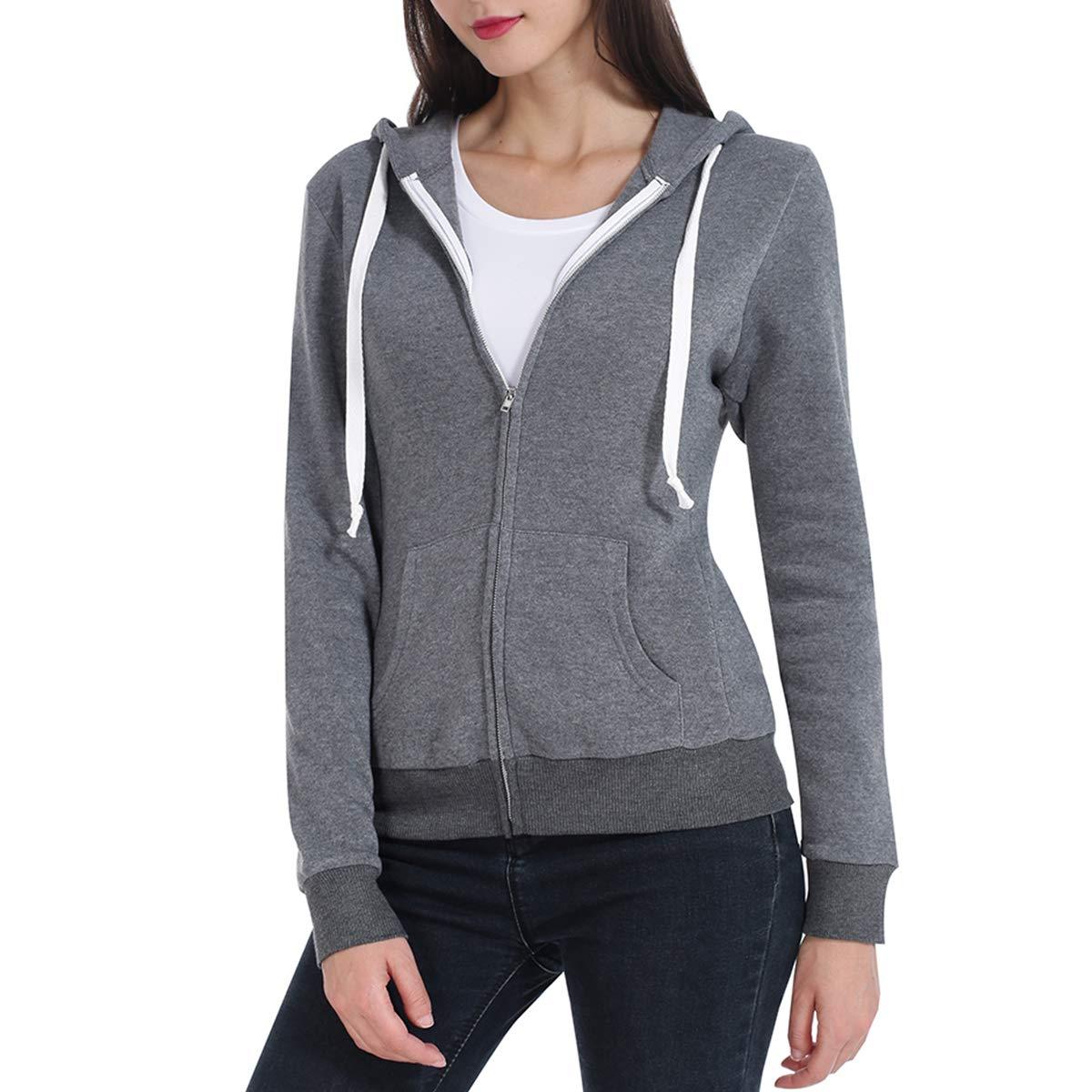 JTANIB Womens Oversized Double Fuzzy Fleece Hoodies Zipper Casual Sherpa Pullover Hooded Sweatshirt with Pocket