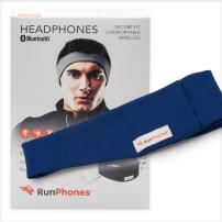 AcousticSheep RunPhones Wireless | Bluetooth Headphones for Running, Exercise & More | Flat Speakers | Rechargeable Battery Lasts Up to 10 Hours | Royal Blue (Size M)