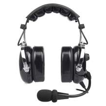 General Aviation Pilot Headset with Comfortable Ear Seals, Noise Cancelling, MP3 Input, GA Dual Plug and Carrying Case