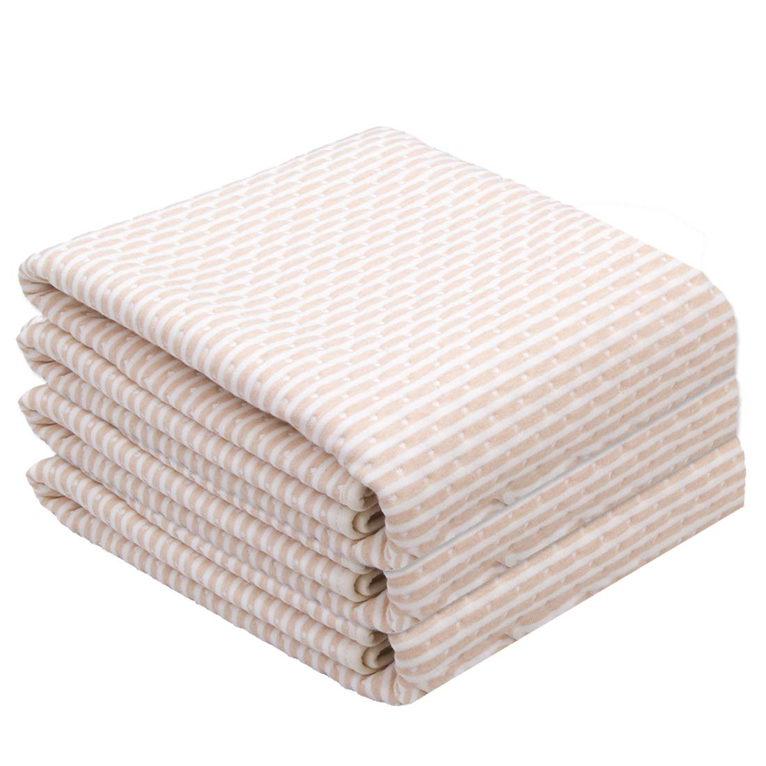3 Pack Waterproof Bed Pad Incontinence Mattress Protector 100% Cotton Baby Changing Mats for Children Adults and Pets(3pcs Brown & White, 19.7 x 27.6 Inch)