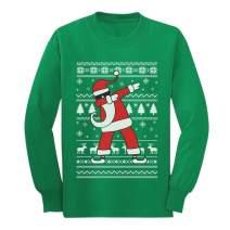 Dabbing Santa Funny Ugly Christmas Party Youth Kids Long Sleeve T-Shirt