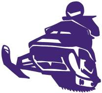 hBARSCI Snowmobile Vinyl Decal - 5 Inches - for Cars, Trucks, Windows, Laptops, Tablets, Outdoor-Grade 2.5mil Thick Vinyl - Purple