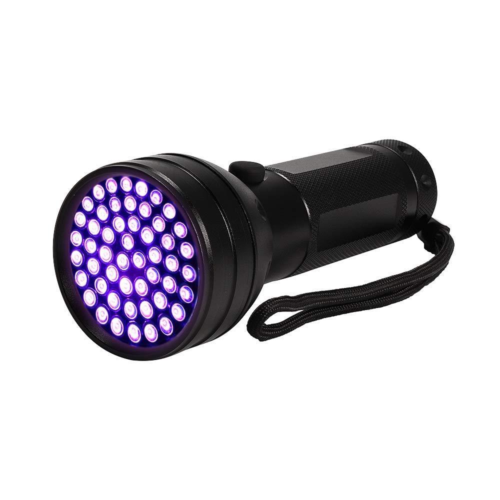 UV Flashlight Blacklight, 395nm 51 Ultravilot Urine Detector for dogs, Pet Stain Detector, Dog Urine Remover, Bed Bug Detector KULED (51 LED UV Flashlight)