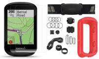 Garmin Edge 830 Cycle GPS Bundle   +Chest Strap HRM, Bluetooth Speed/Cadence Sensors, Silicone Case & Screen Protectors (x2)   Touchscreen, Mapping   Bike Computer (Red + Sensors)