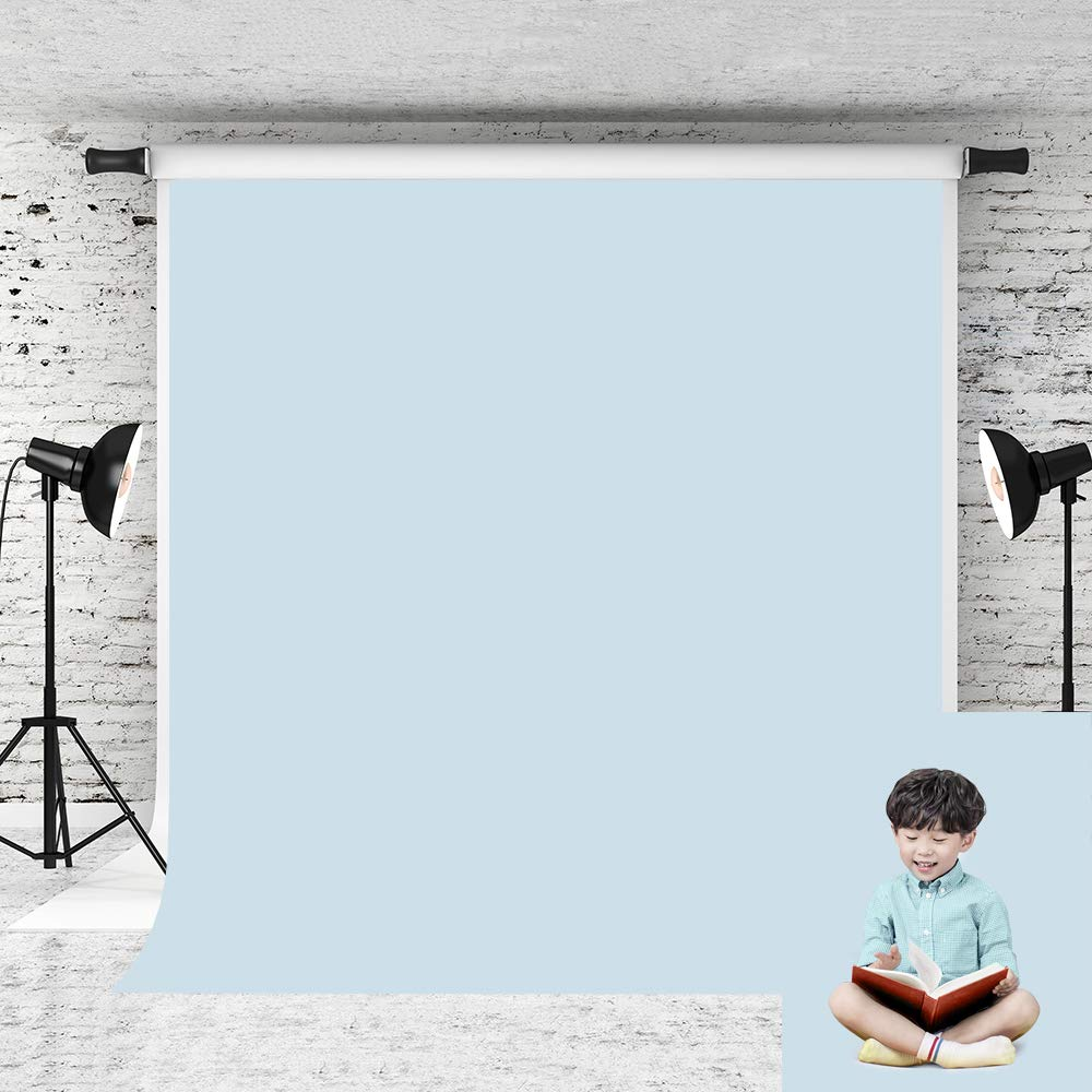 Kate 8x8ft Light Blue Photo Backdrop Pure Solid Color Background Cotton No Wrinkle Backdrops for Baby Photo Studio Prop