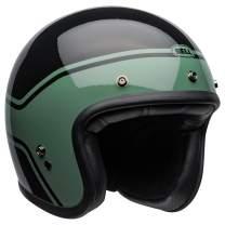 Bell Custom 500 Open-Face Motorcycle Helmet (Streak Gloss Black/Green, X-Large)