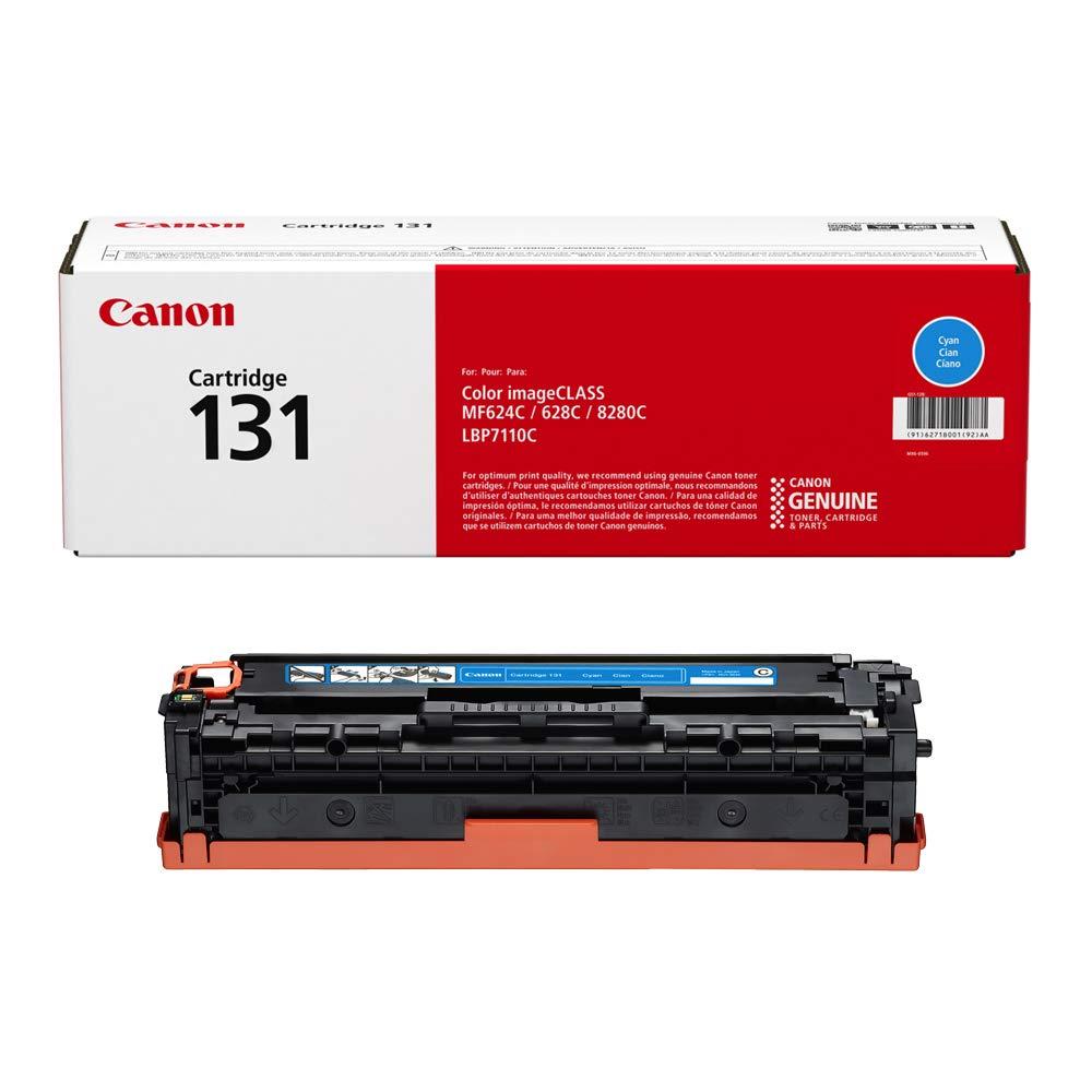 Canon Genuine Toner, Cartridge 131 Cyan (6271B001), 1 Pack, for Canon Color imageCLASS MF8280Cw, MF624Cw, MF628Cw, LBP7110Cw Laser Printers