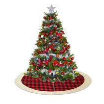 QTDLXFA Christmas Tree Skirt Mat 48 Inch for Christmas Holiday Party Decoration