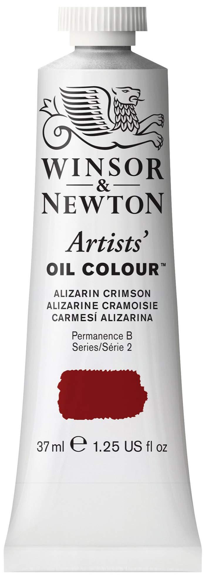 Winsor & Newton 1214004, Alizarin Crimson Artists' Oil Colour Paint, 37ml Tube, 37-ml