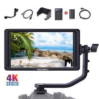 FEELWORLD F5 5 Inch DSLR Camera Field Monitor Full HD 1920x1080 IPS Video Peaking Focus Assist with 4K HDMI 8.4V DC in/Out Include F550 Battery + Charger