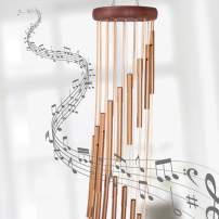 "Orgrimmar 36"" Long Sympathy Wind Chimes with 18 Aluminum Alloy Tubes Deep Tone Grace Elegant Wind Chime Quality Gift Decor for Patio, Garden, Home, Balcony, Indoor and Outdoor"