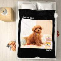 """VEELU Personalized Throw Blanket Super Soft for Baby & Adult Custom Collage Fleece Blanket with My Own Photos Names Pictures Birthday Wedding Gift 60""""x80"""""""