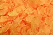 ocharzy 1000pcs Silk Rose Petals Wedding Flower Decoration (Orange)
