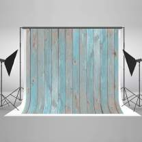 Kate 10x6.5ft Wood Photography Backdrop Portrait Photo Backdrops Blue Wood Photo Studio Props