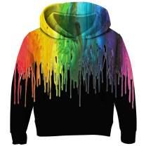 RAISEVERN Unisex Kids Fleece Hoodies 3D Printed Novelty Pullover Hooded Sweatshirts with Pocket 3-13 Years
