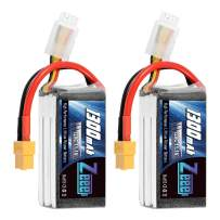 Zeee 11.1V 120C 1300mAh 3S RC Lipo Battery Graphene Battery with XT60 Plug for FPV Racing Drone Quadcopter Helicopter Airplane RC Boat RC Car RC Models(2 Pack)