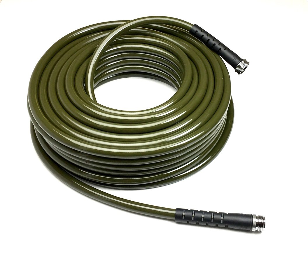 Water Right 500 Series High Flow Garden Hose, Lead Free & Drinking Water Safe, 25-Foot x 1/2-Inch, Brass Fittings, Olive Green