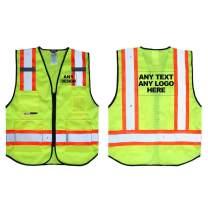 Personalised Salzmann 3M Multi-Pocket Mesh Safety Vest with Custom Imprint