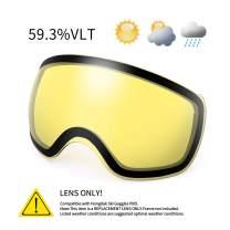 KUTOOK Ski Goggles with Magnetic Double Anti-Fog Lens UV400 Protection Spherical OTG Design for Men & Women Snowboarding
