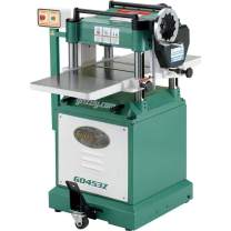 "Grizzly Industrial G0453Z - 15"" 3 HP Planer with Spiral Cutterhead"