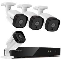xmartO H.265+ ES5084 5MP PoE home security camera system with 2-way audio and easy remote access (8CH NVR 4 cameras)