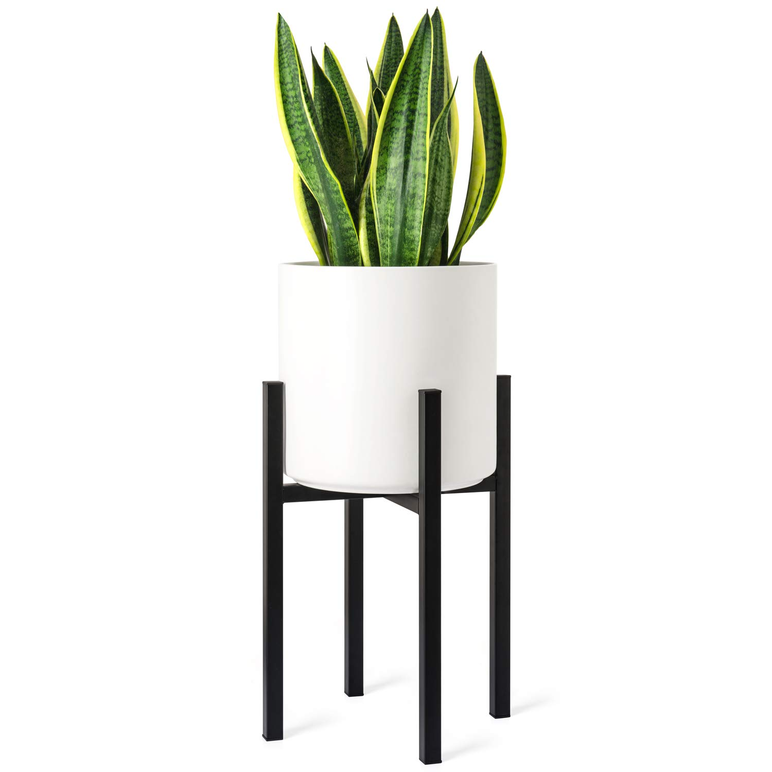 Mkono Plant Stand Mid Century Modern Tall Pot Stand Indoor (Plant Pot Not Included) Metal Flower Potted Plant Holder, Plants Display Rack Fits Up to 10 Inch Planter