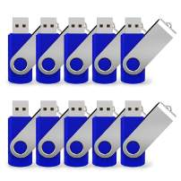 16G USB Flash Drive 10 Pack Easy-Storage Memory Stick K&ZZ Thumb Drives Gig Stick USB2.0 Pen Drive for Fold Digital Data Storage, Zip Drive, Jump Drive, Flash Stick, Blue Colors