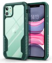 MOBOSI Vanguard Armor Designed for iPhone 11 Case, Rugged Cell Phone Cases, Heavy Duty Military Grade Shockproof Drop Protection Cover for iPhone 11 6.1 Inch 2019 (Green)